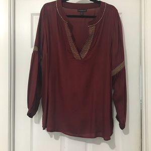 Maroon pullover tunic toot